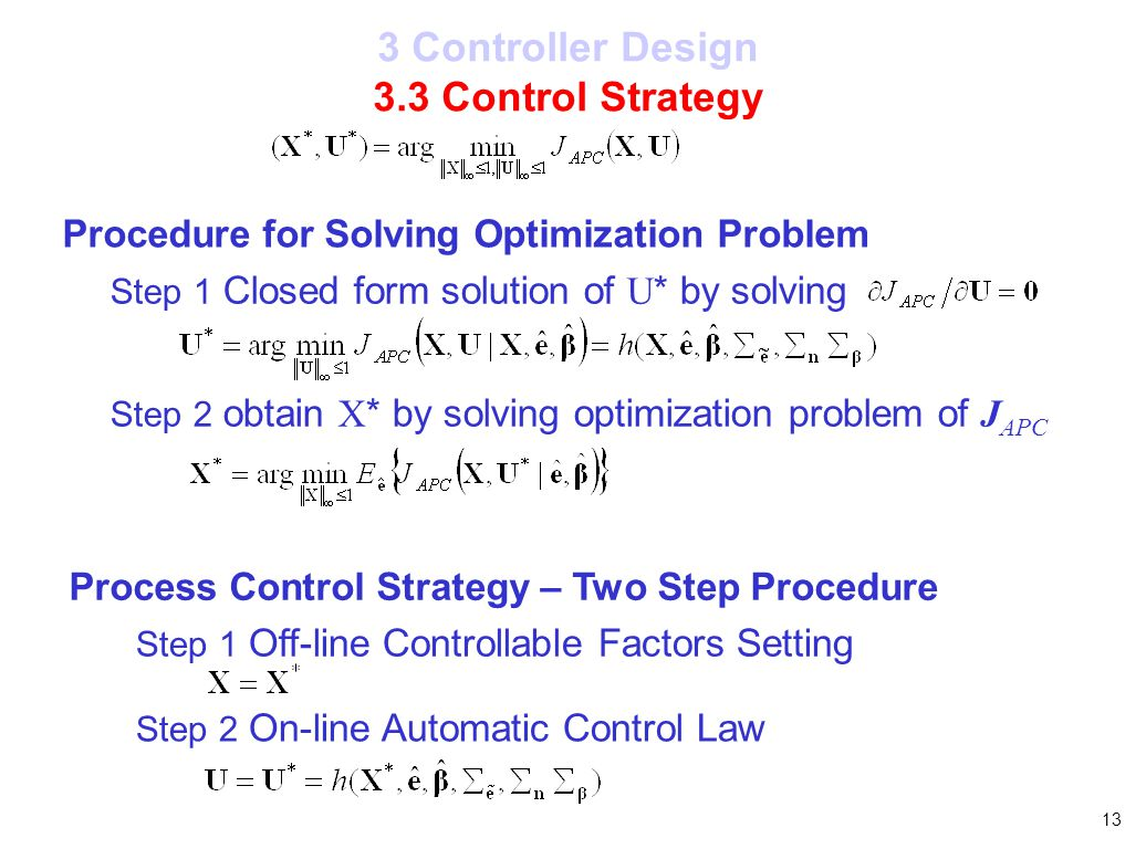 3 Controller Design 3.3 Control Strategy