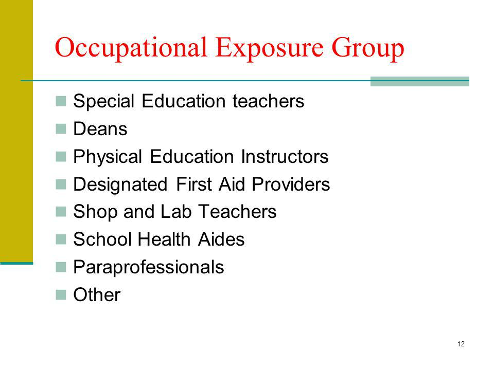 Occupational Exposure Group