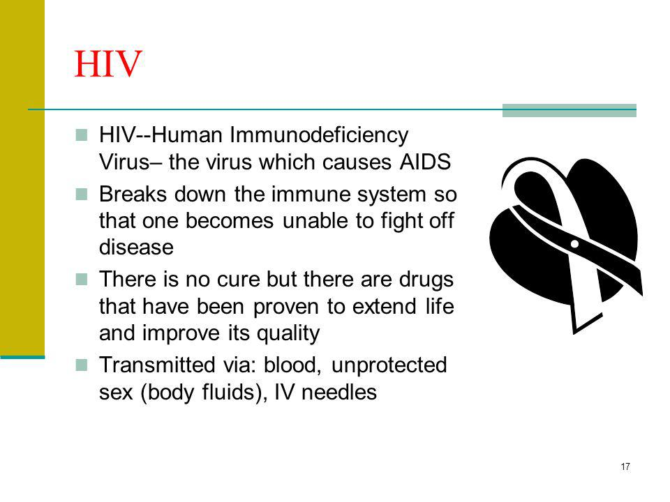 HIV HIV--Human Immunodeficiency Virus– the virus which causes AIDS