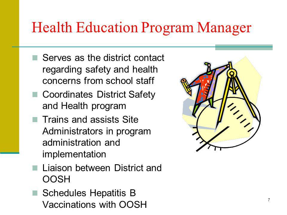 Health Education Program Manager