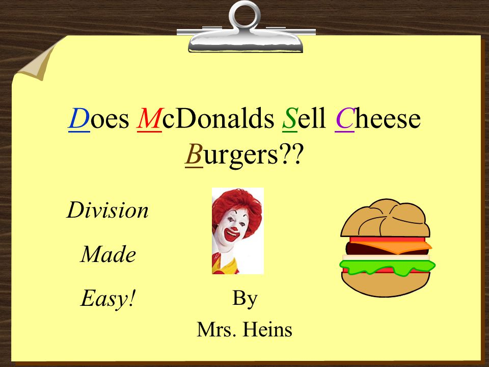 Does McDonalds Sell Cheese Burgers
