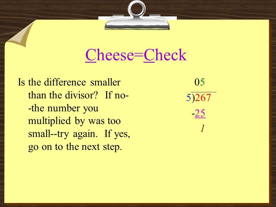 Cheese=Check
