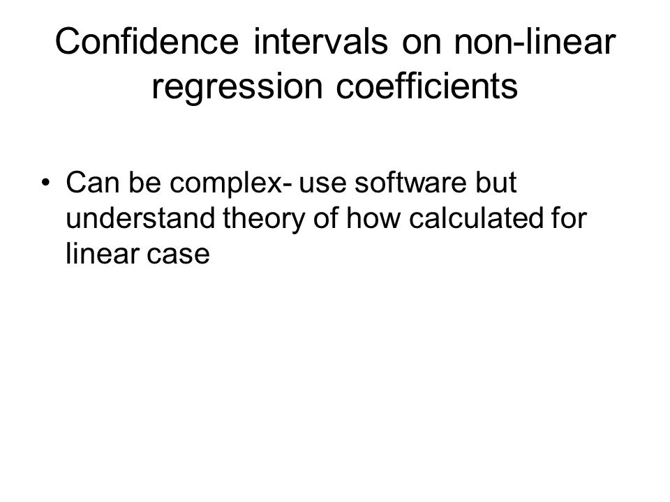 Confidence intervals on non-linear regression coefficients