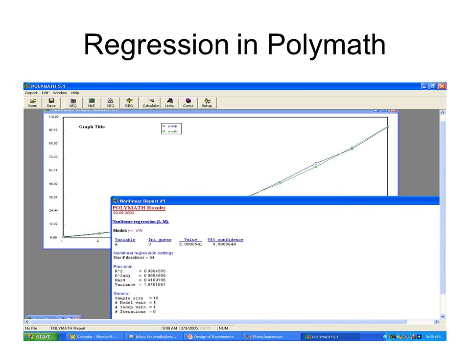 Regression in Polymath