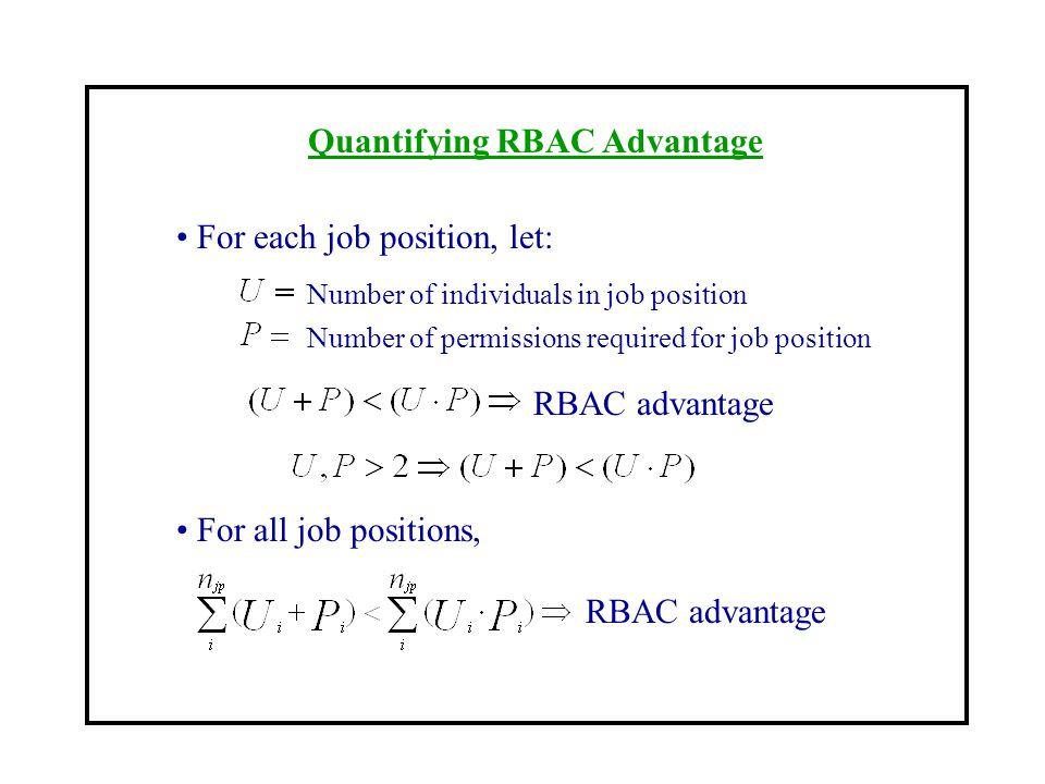 Quantifying RBAC Advantage