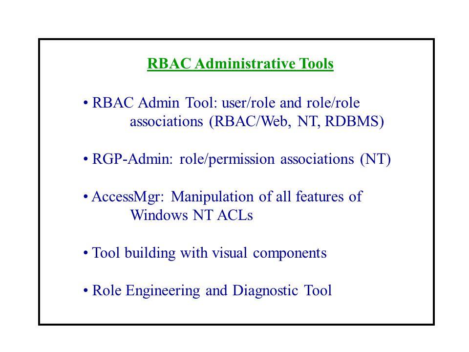 RBAC Administrative Tools