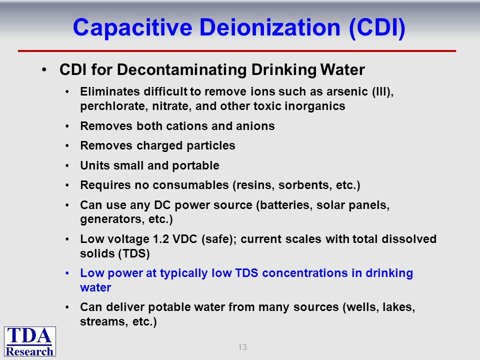 Capacitive Deionization (CDI)