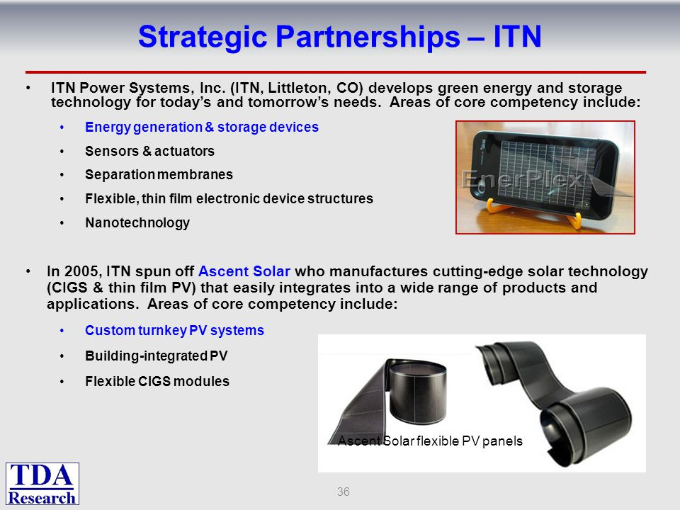 Strategic Partnerships – ITN