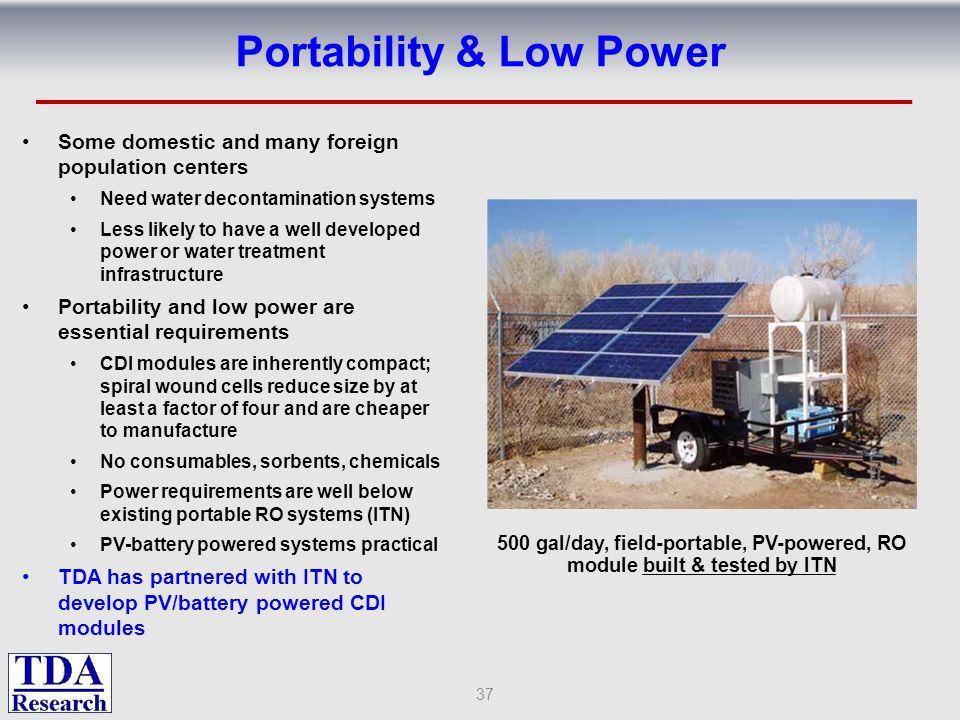Portability & Low Power