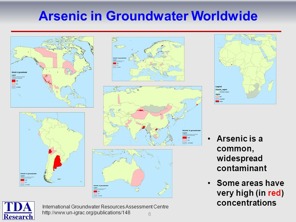 Arsenic in Groundwater Worldwide
