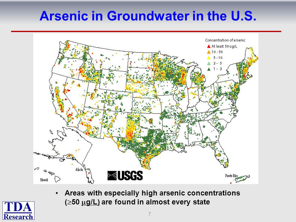 Arsenic in Groundwater in the U.S.
