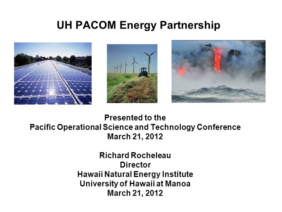 UH PACOM Energy Partnership