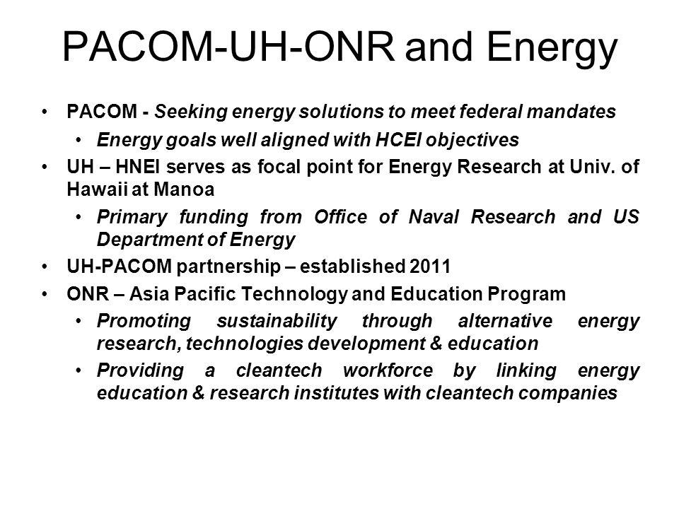 PACOM-UH-ONR and Energy