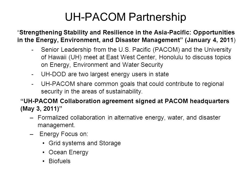 UH-PACOM Partnership