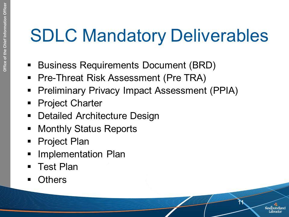 SDLC Mandatory Deliverables