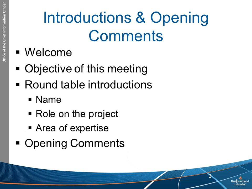 Introductions & Opening Comments