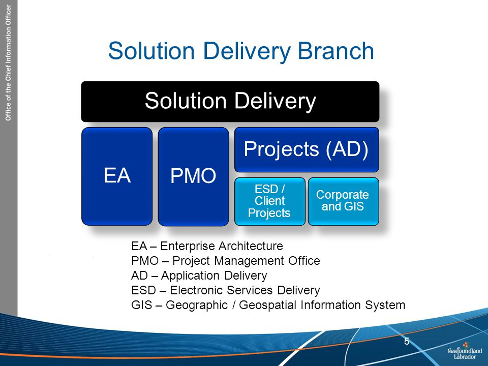 Solution Delivery Branch