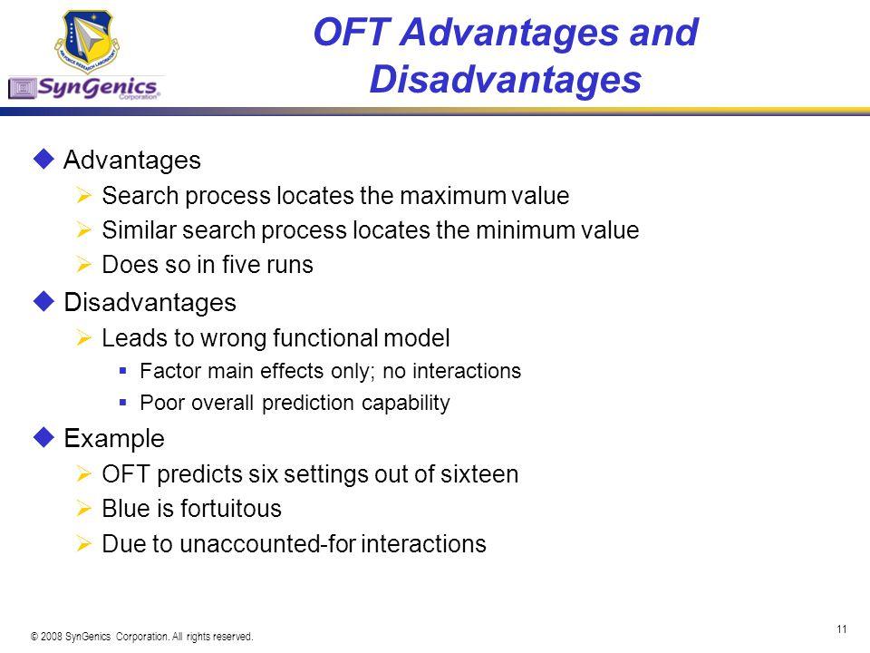 OFT Advantages and Disadvantages