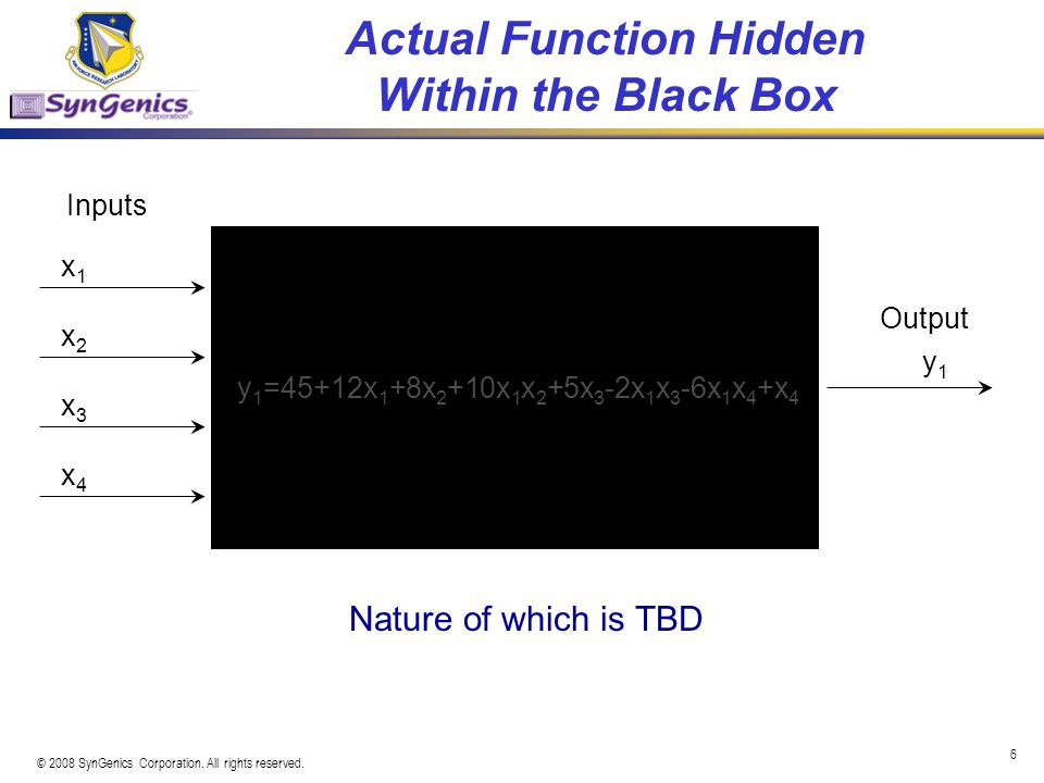 Actual Function Hidden Within the Black Box