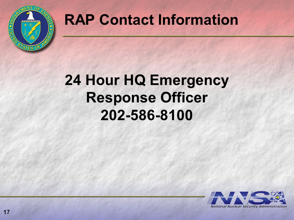 24 Hour HQ Emergency Response Officer