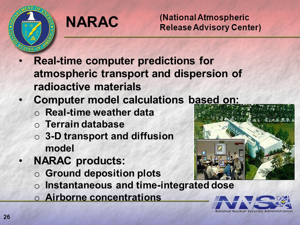 (National Atmospheric Release Advisory Center)