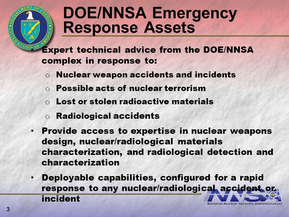 DOE/NNSA Emergency Response Assets
