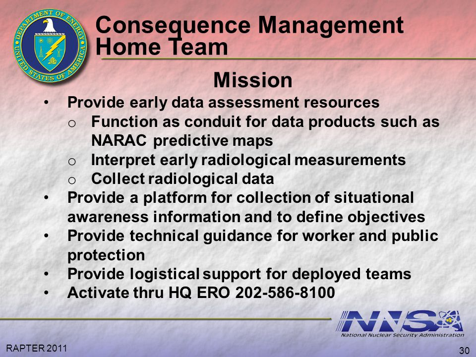 Consequence Management Home Team