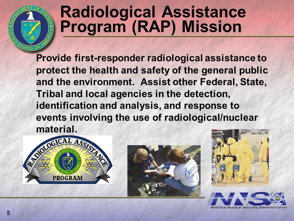 Radiological Assistance Program (RAP) Mission
