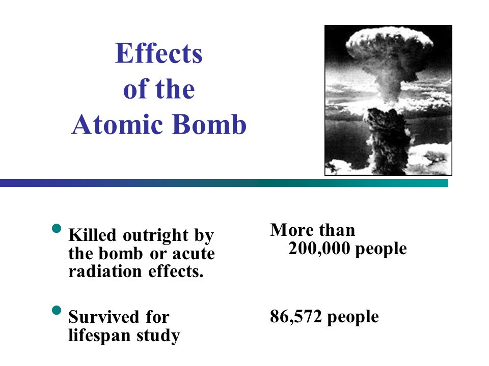 Effects of the Atomic Bomb