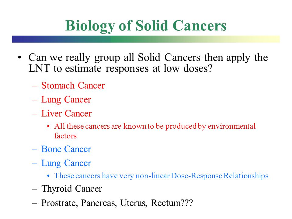 Biology of Solid Cancers