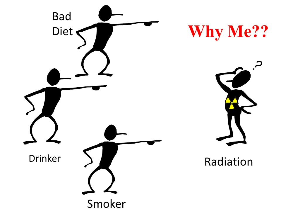 Bad Diet Why Me Drinker Radiation Smoker
