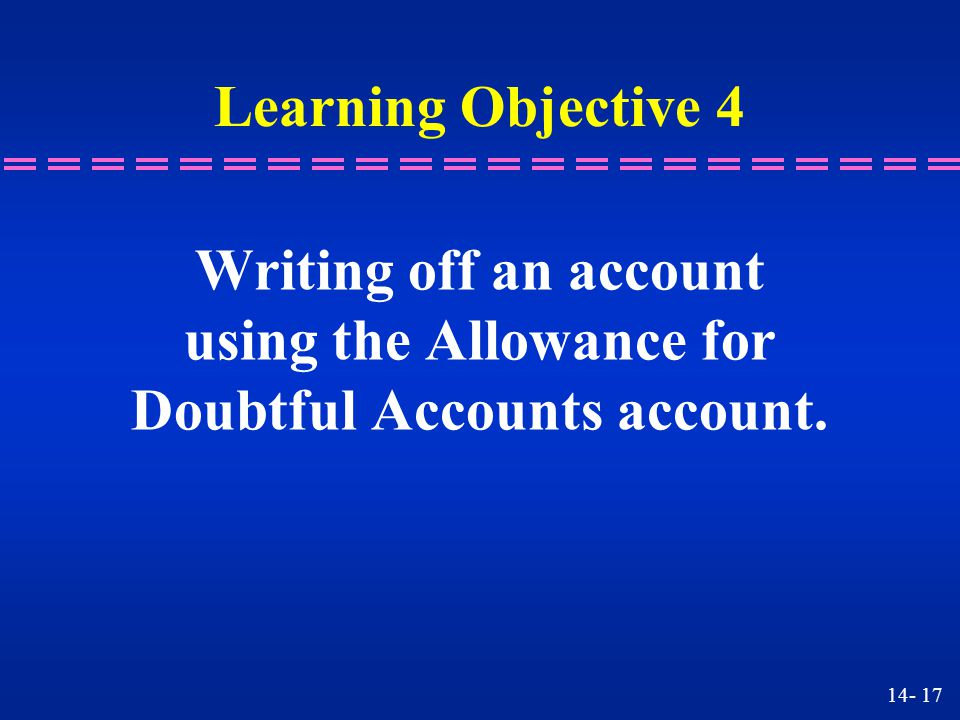 using the Allowance for Doubtful Accounts account.