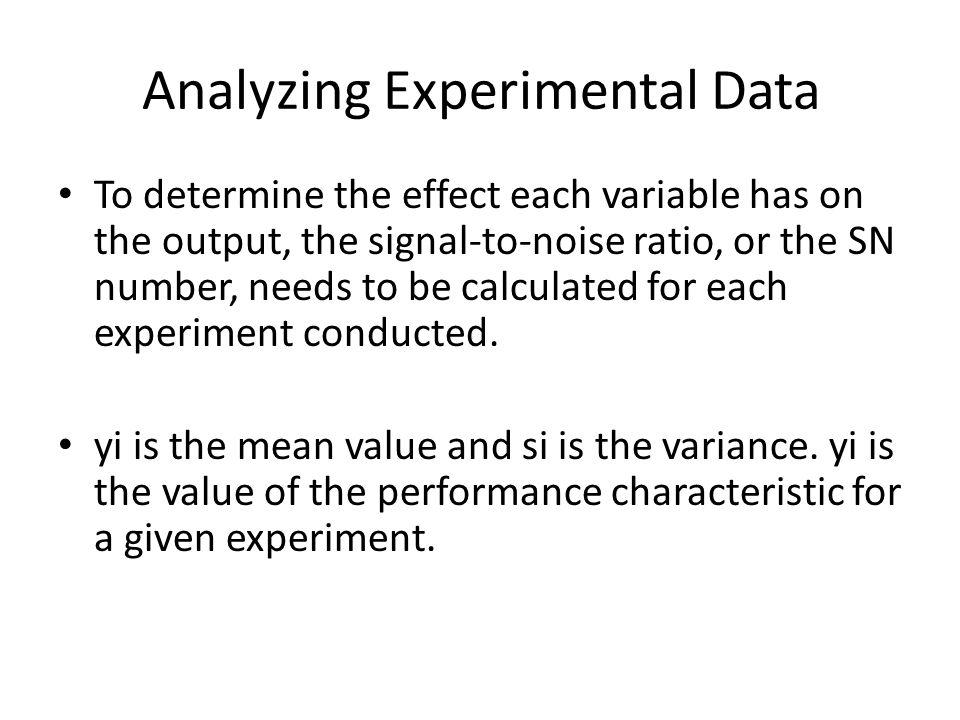 Analyzing Experimental Data