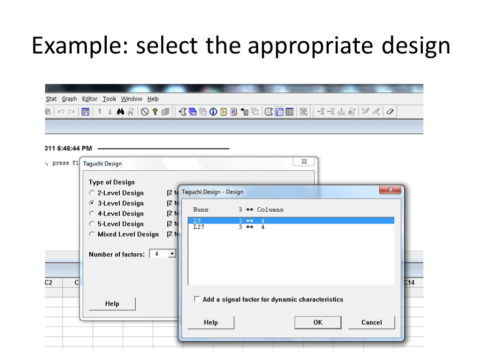 Example: select the appropriate design
