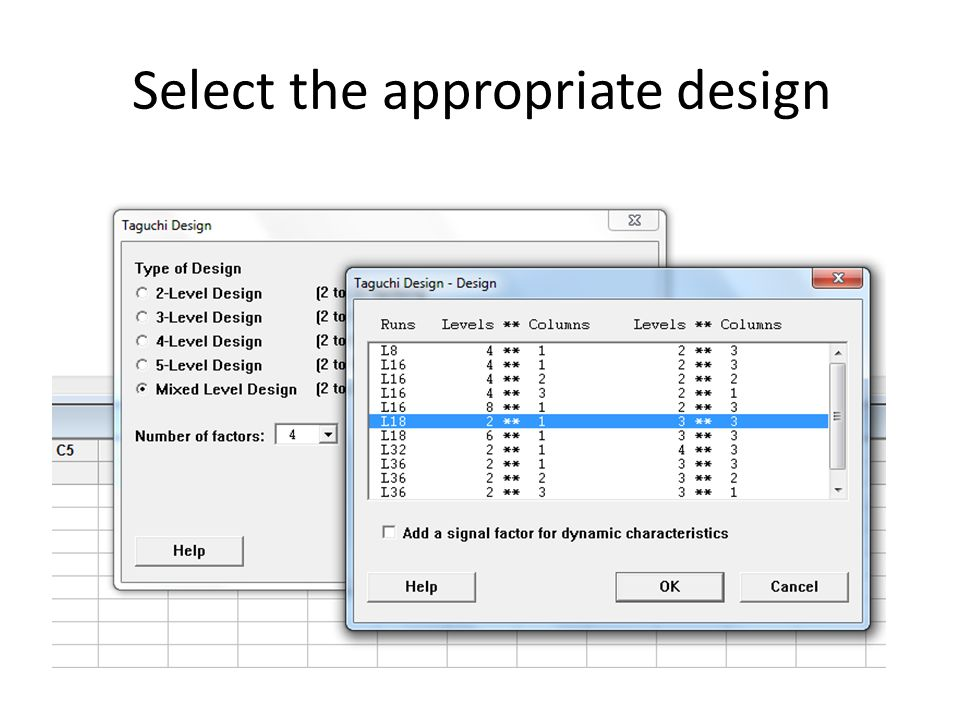 Select the appropriate design