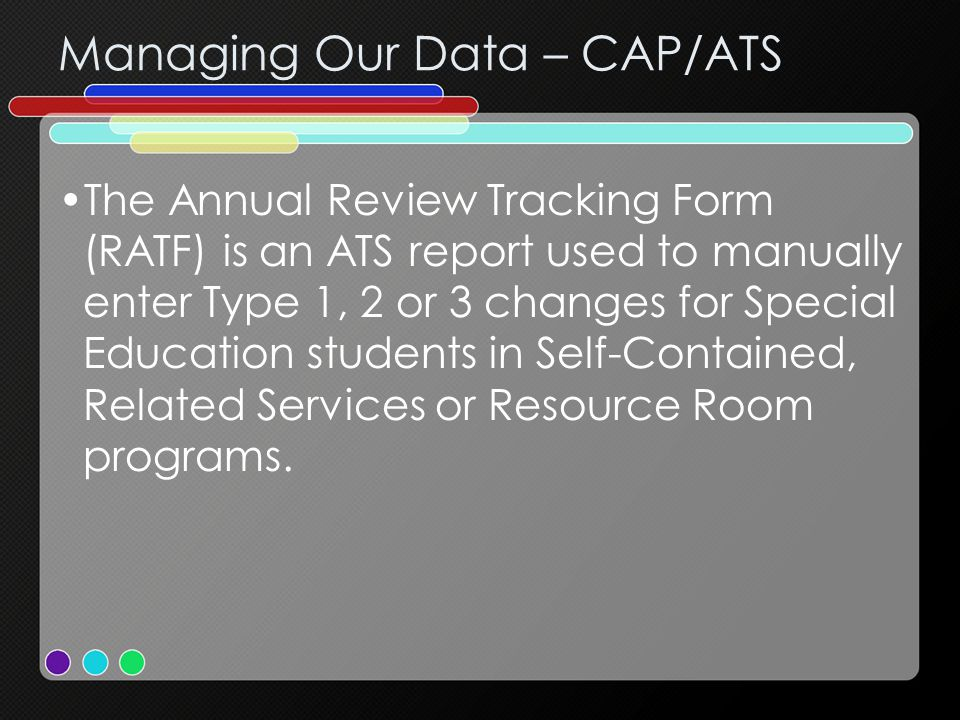 Managing Our Data – CAP/ATS