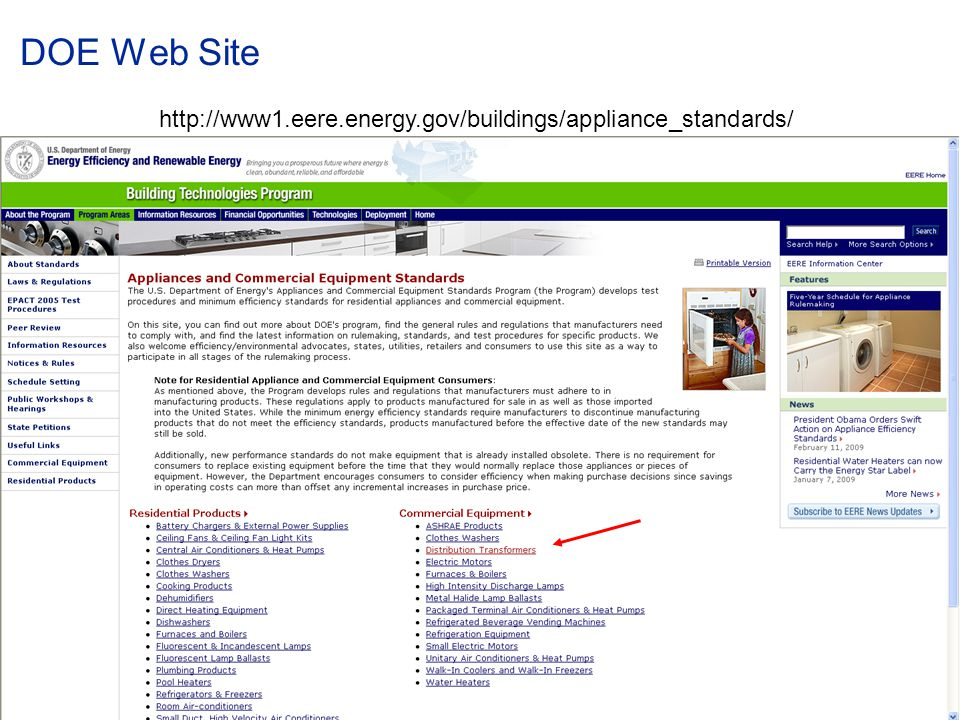 DOE Web Site http://www1.eere.energy.gov/buildings/appliance_standards/ © ABB Group.