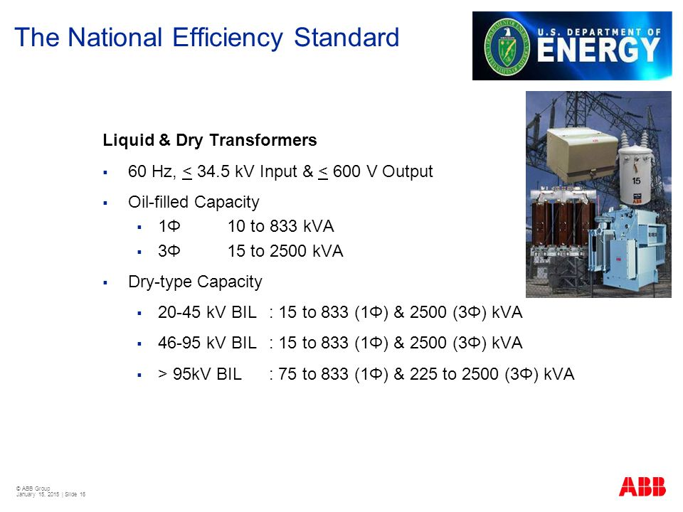 The National Efficiency Standard
