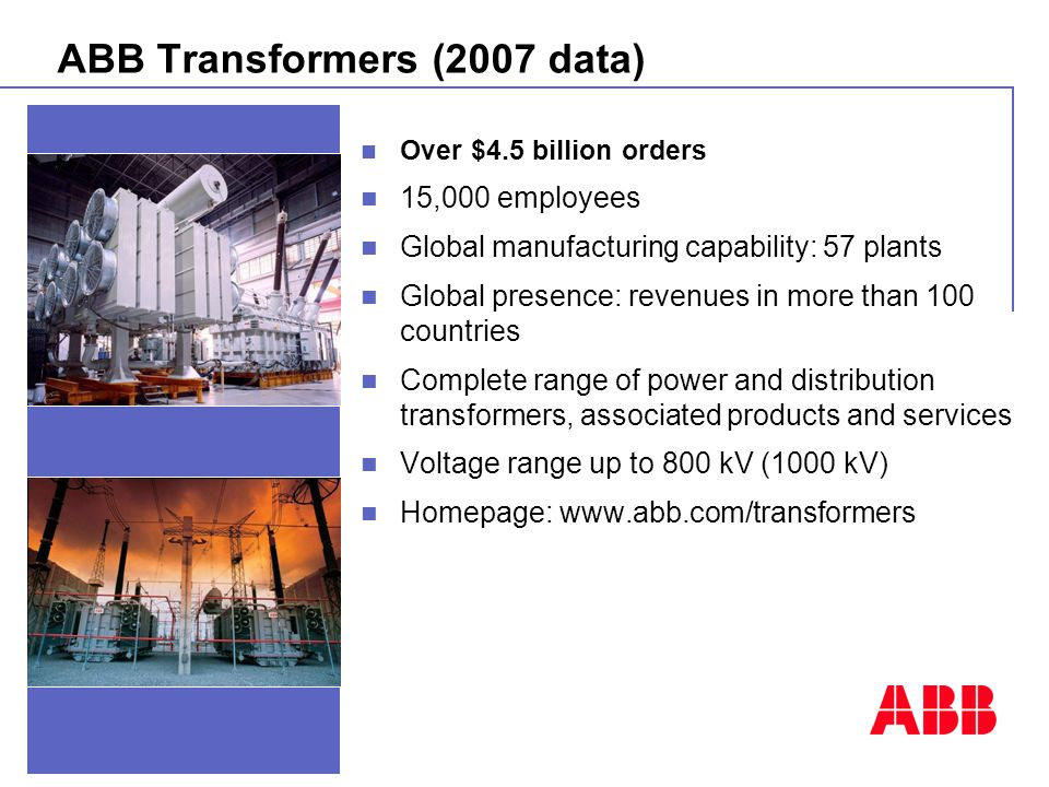 ABB Transformers (2007 data)