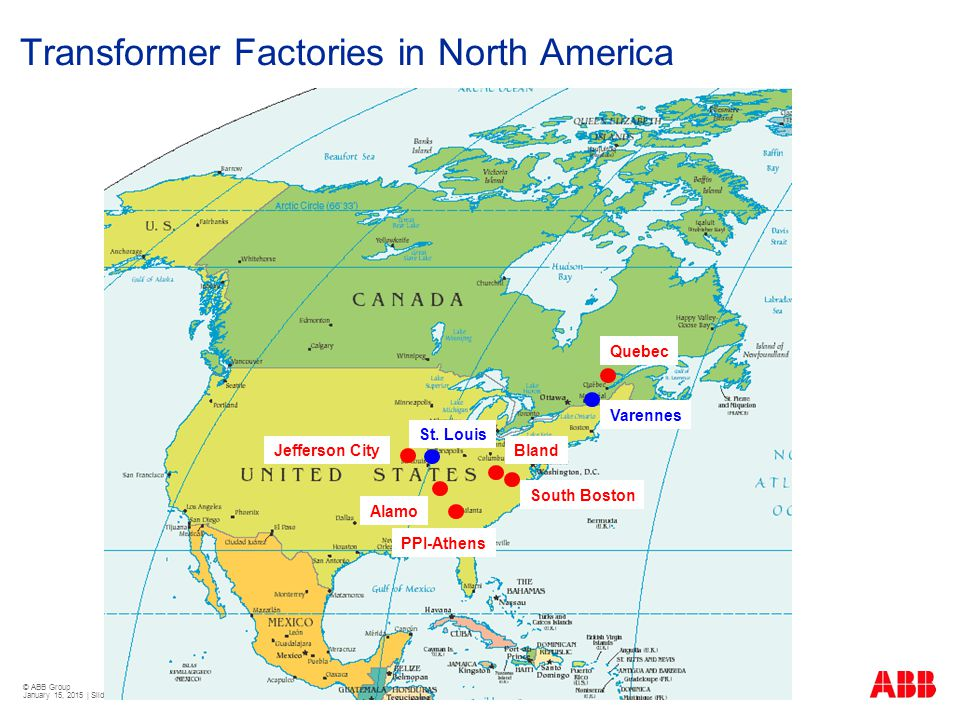 Transformer Factories in North America