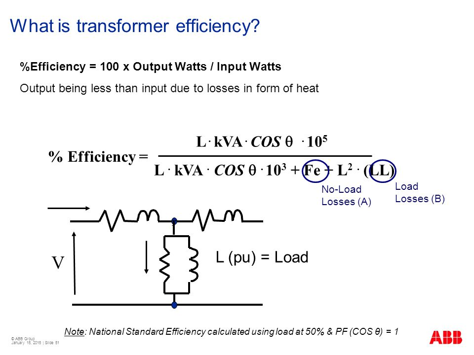 What is transformer efficiency