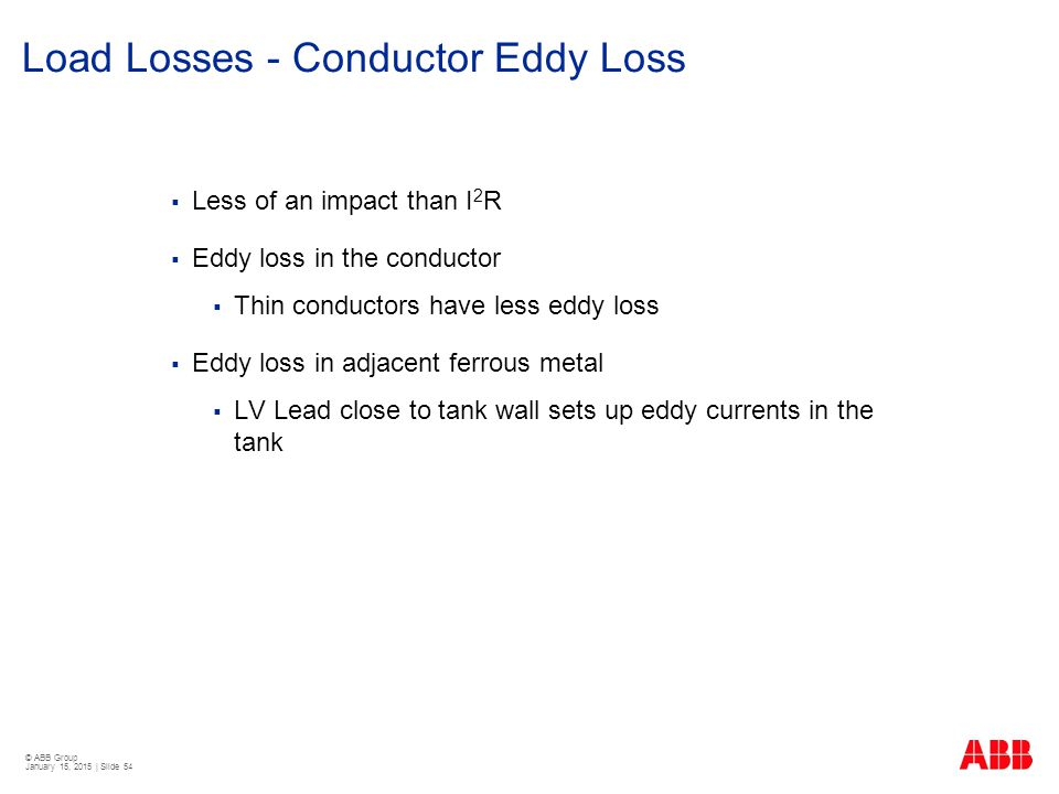 Load Losses - Conductor Eddy Loss