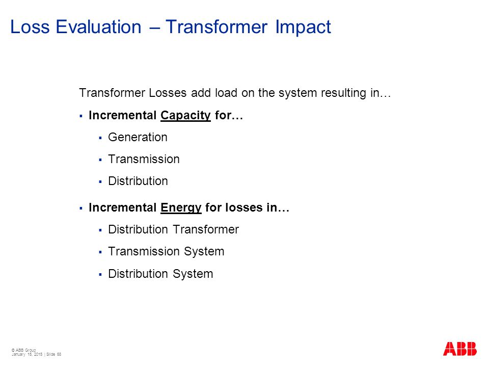 Loss Evaluation – Transformer Impact