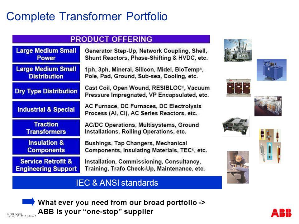 Complete Transformer Portfolio