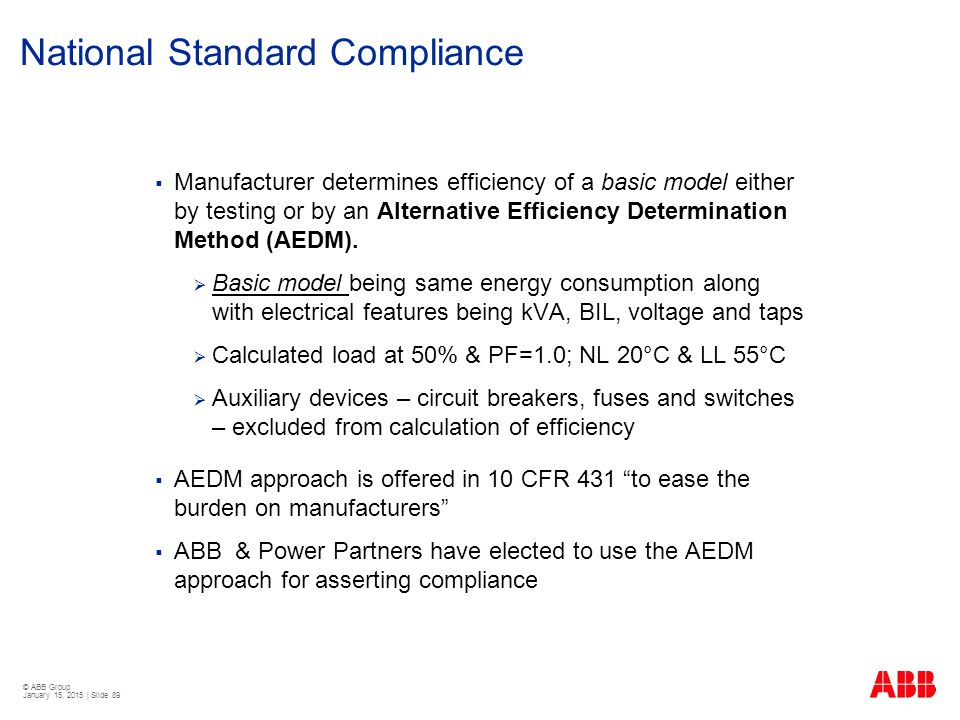 National Standard Compliance