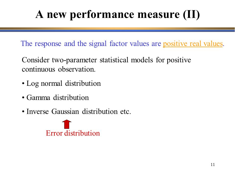 A new performance measure (II)