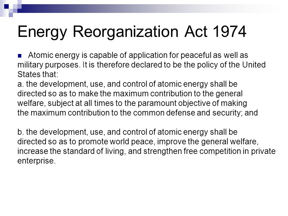 Energy Reorganization Act 1974