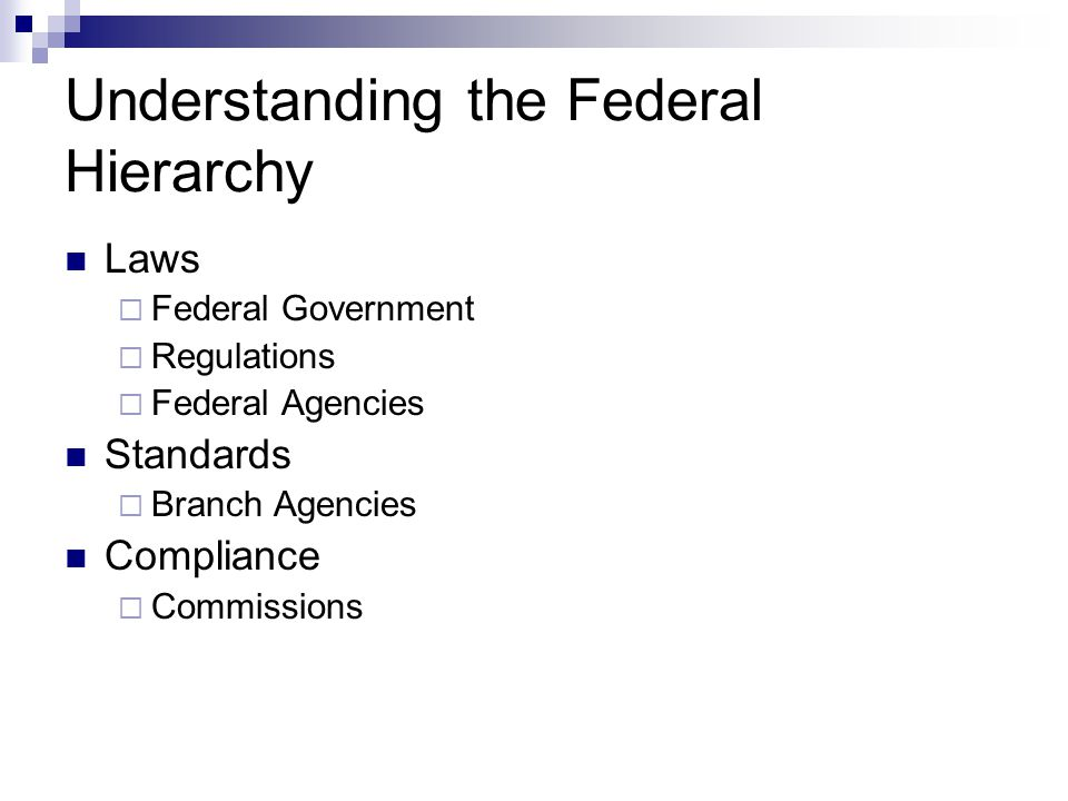 Understanding the Federal Hierarchy