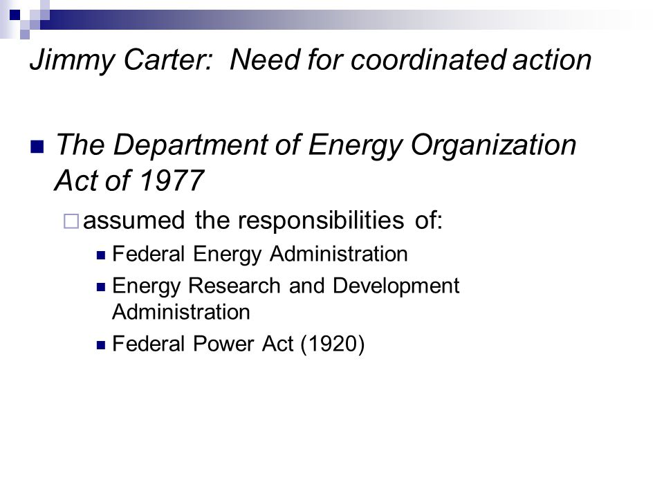 Jimmy Carter: Need for coordinated action