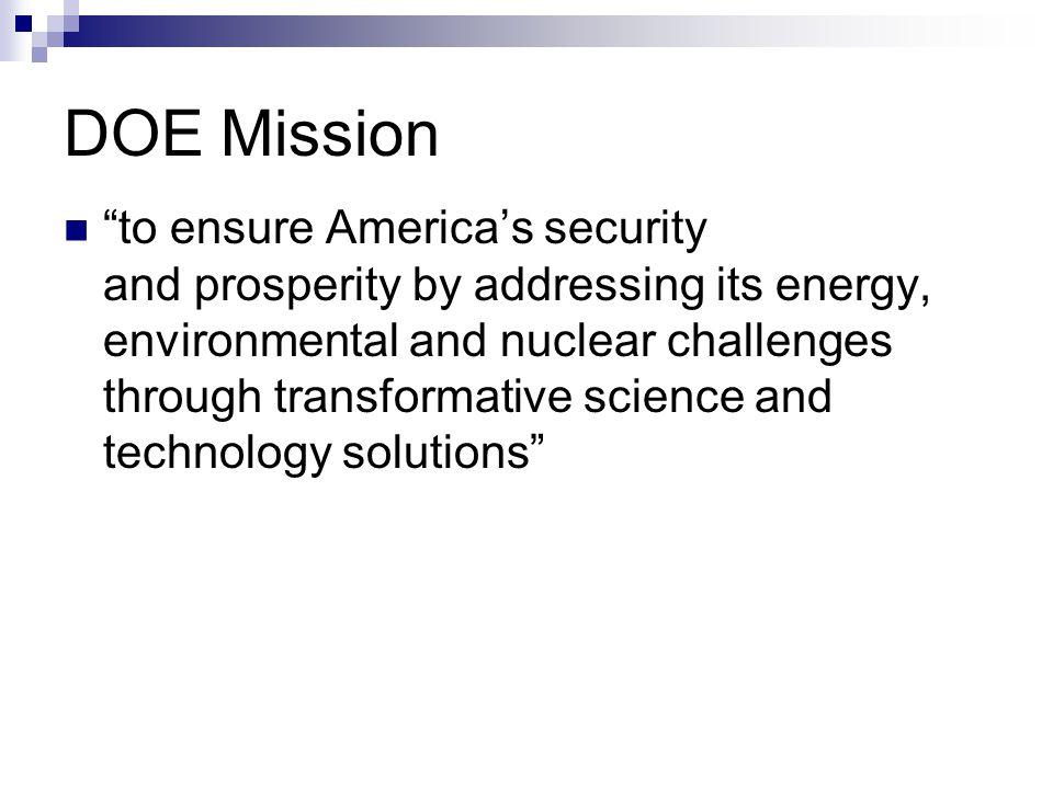DOE Mission